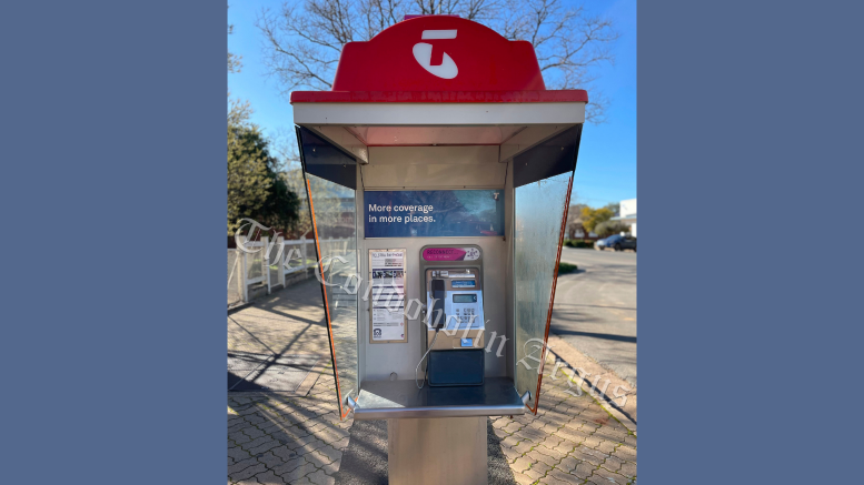 Australia's 15,076 public payphones, including the one in Condobolin, will be free to use for local and national phone calls as part of Telstra's payphone overhaul, as well as calls to Australian mobile phone numbers, with no restrictions other than a six-hour limit on phone calls. Consumers will still have to pay to call overseas. Image Credit: Melissa Blewitt.