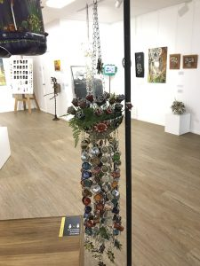 Terryll Cassidy's ('Coffee Pod Windchime' received a Highly Commended at the 2021 Sims Waste 2 Art regional competition. Image Credit: Terryll Cassidy.