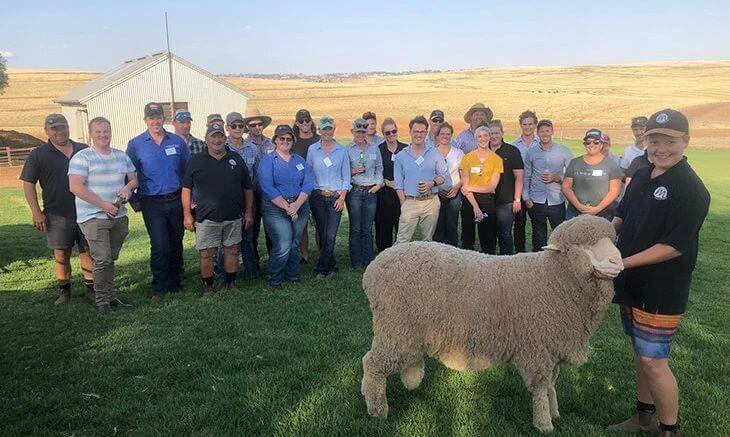 Applications are open for the Australian Wool innovation (AWI) Breeding Leadership 2022 program. Condobolin's Amie L'Estrange undertook the program last year. Image Credit: Australian Wool Innovation.