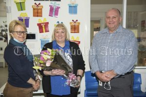 Lachlan Shire Council Director of Corporate and Community Services Karen Pegler, Rachel Brook and Lachlan Shire General Manager Greg Tory. Lachlan Shire Council and her staff wished Rachel well after eight years as Coordinator at Lachlan Children Services.