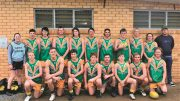 Tulli's Under 17's Football team at the Preliminary Finals.