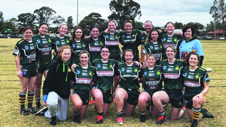 The League Tag girls with their coach Adam Hall (Back row, 3rd right) at the last game where they came 5th. Image Credit: Contributed.