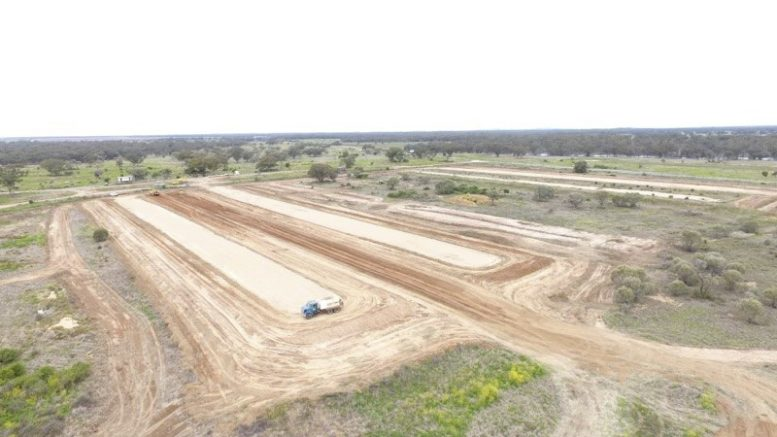 Works have been undertaken to ready Kiacatoo Silos for the 2021 harvest season. There will be four bunkers on site at Kiacatoo which will hold around 80,000 tonnes and the shed will also add another 20,000 tonnes for growers to utilise. Image Credit: GrainCorp.