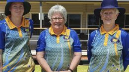 Danielle Thompson (Wnner of the Handicap Singles Semi-Final Match), Jenny Tickle, and Pam Nicholl (Marker). Image Credit: Pauleen Dimos.